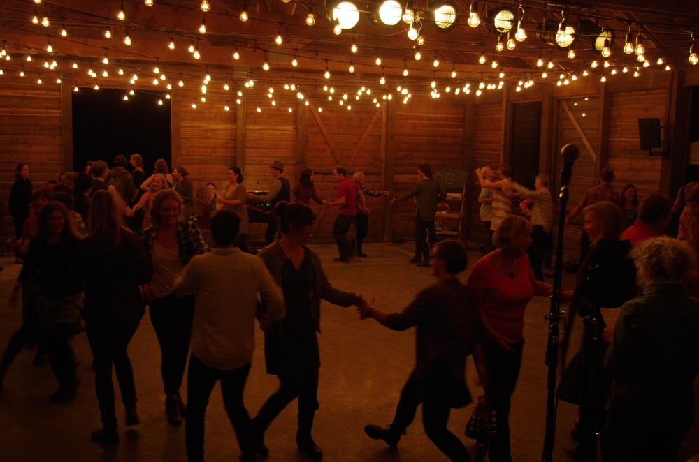 Contra Dancing at the Out of the Woods CD release party in December 2013